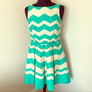 Green Chevron Dress